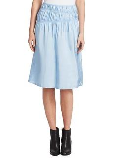 Helmut Lang Ruched Midi Slip Skirt