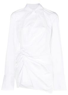 Helmut Lang ruched shirt