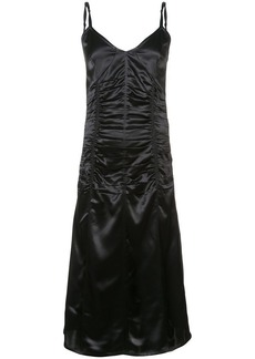 Helmut Lang ruched v-neck dress