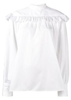 Helmut Lang ruffled long sleeve blouse