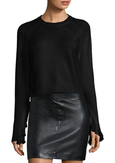 Helmut Lang Ruffled Pullover Sweater