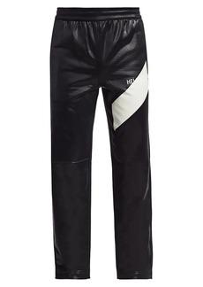 Helmut Lang Sash Coated Logo Track Pants
