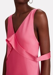 Helmut Lang Sash Front Satin Gown