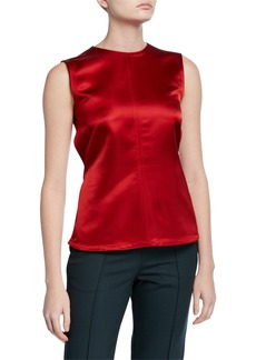 Helmut Lang Satin Open-Back Top