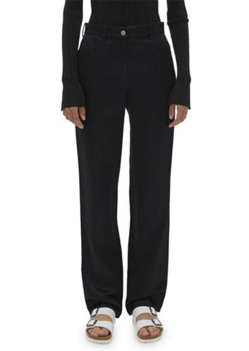 Helmut Lang Satin Straight-Leg Pants