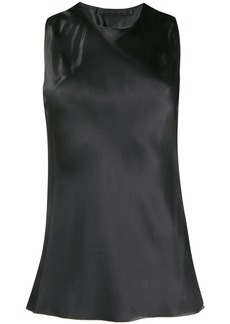 Helmut Lang satin twist top