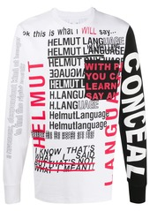 Helmut Lang script print T-shirt