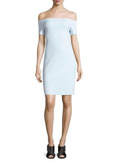 Helmut Lang Scuba Off-the-Shoulder Dress