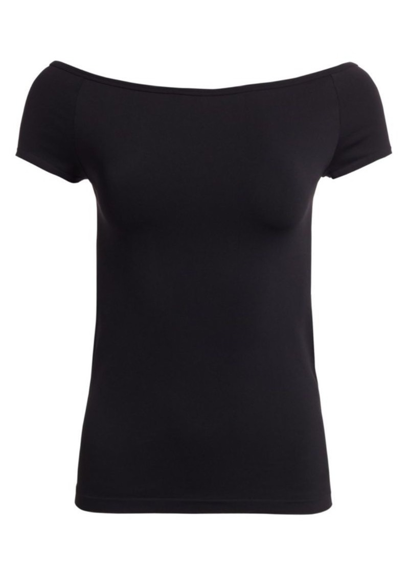 Helmut Lang Seamless Jersey Off-The-Shoulder Top