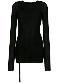 Helmut Lang semi-sheer longsleeved blouse