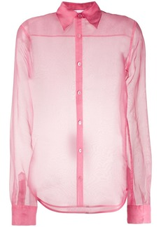 Helmut Lang sheer long sleeve shirt
