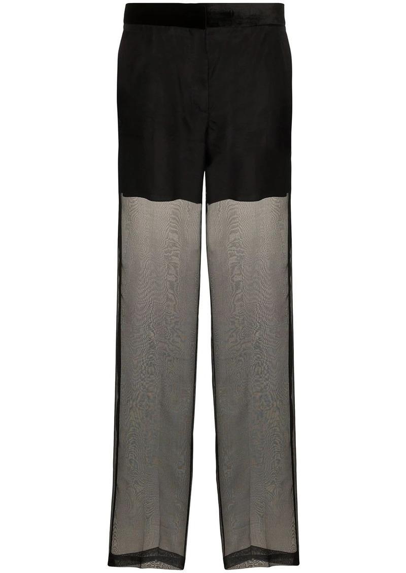 Helmut Lang sheer organza trousers
