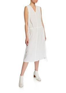 Helmut Lang Sheer Parachute Sleeveless Midi Dress