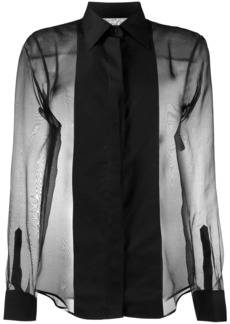 Helmut Lang sheer tux shirt