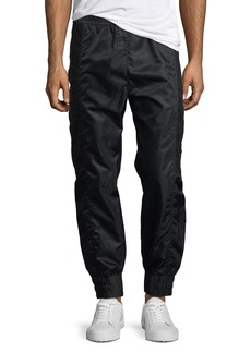 Helmut Lang Sheet-Snap Satin Track Pants