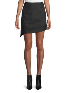 Helmut Lang Shifted Asymmetric Canvas Mini Skirt
