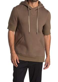 Helmut Lang Short Sleeve Hooded Sweatshirt