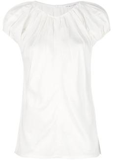 Helmut Lang short-sleeve ruched blouse