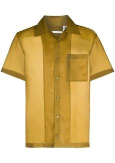 Helmut Lang short-sleeved silk shirt