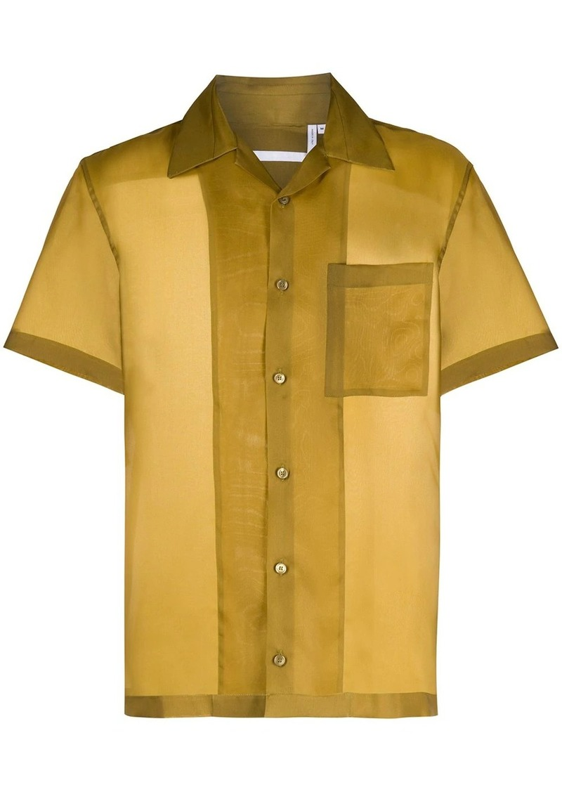 Helmut Lang short-sleeved silk shirt