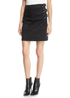 Helmut Lang Side-Buckled Cotton Skirt