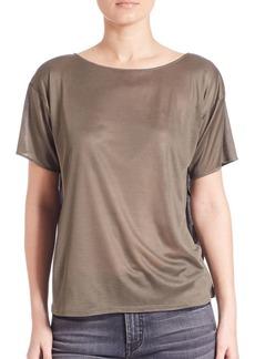 Helmut Lang Silk Boxy T-Shirt