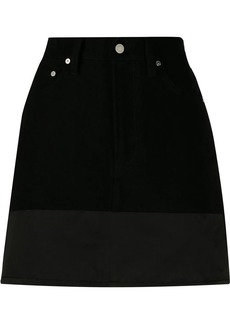 Helmut Lang silk panel denim skirt