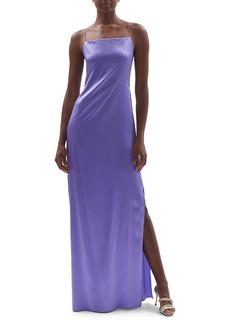 Helmut Lang Silk Satin Maxi Slip Dress