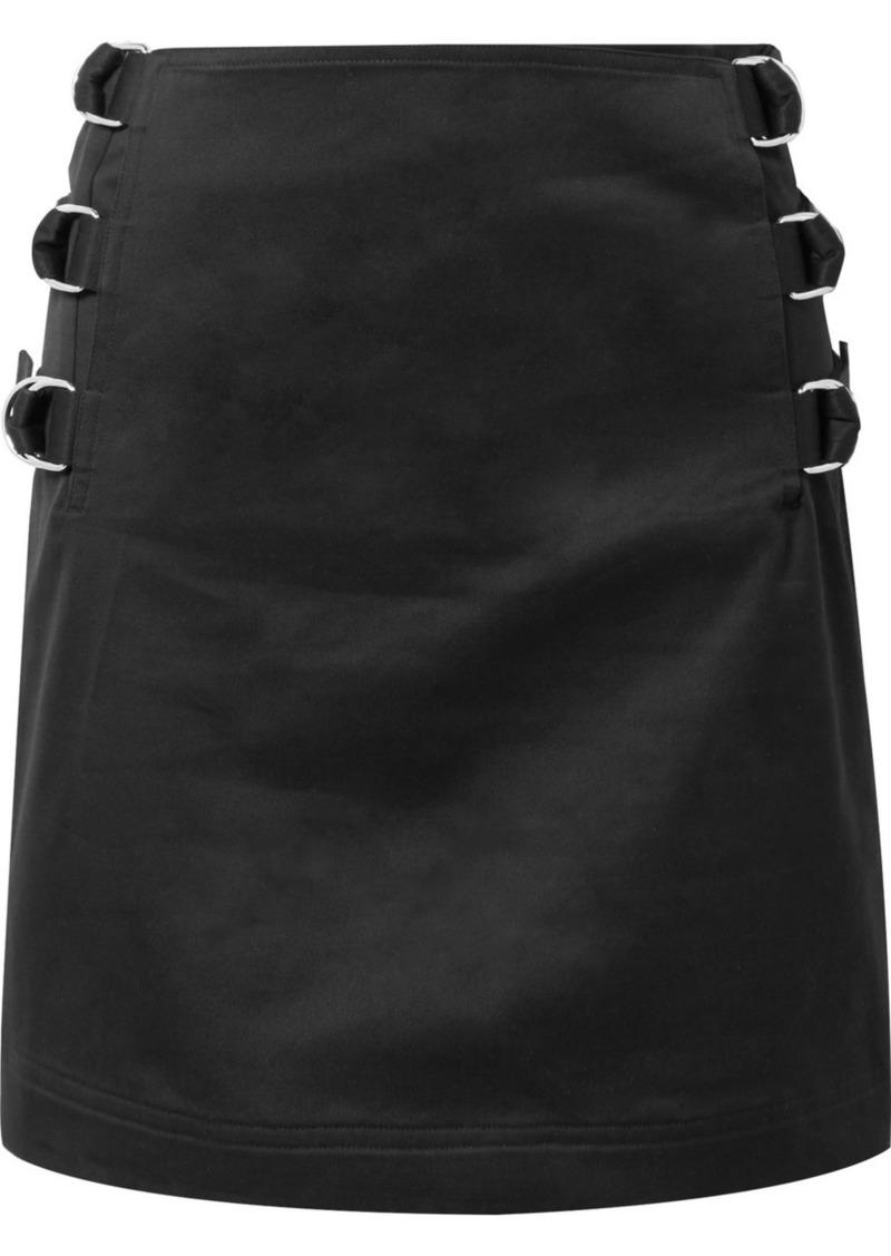 Helmut Lang Silk-twill Trimmed Cotton-twill Mini Skirt