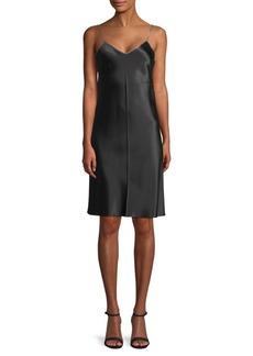 Helmut Lang Silk Zip-Accented Slip Dress