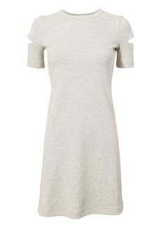 Helmut Lang Slash Sleeve Ribbed Dress