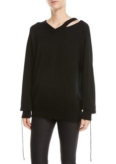 Helmut Lang Slash V-Neck Sweater
