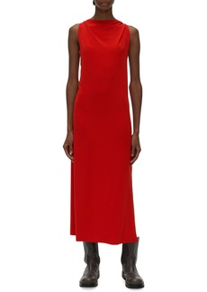 Helmut Lang Sleeveless Back Twist Midi Dress