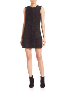 Helmut Lang Sleeveless Crewneck Leather Dress