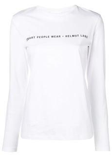 Helmut Lang slogan logo patch top