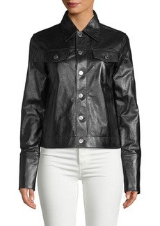 Helmut Lang Spread Collar Leather Jacket
