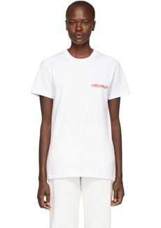 Helmut Lang SSENSE Exclusive White & Red Brian Roettinger Logo Hack T-Shirt