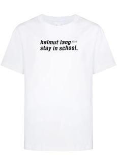 Helmut Lang Stay in School print T-shirt