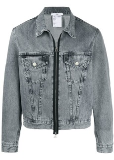 Helmut Lang stonewashed effect zipped jacket