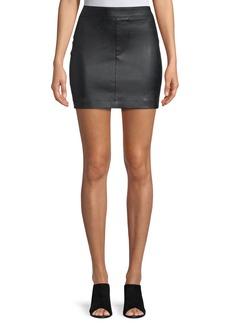 Helmut Lang Straight Leather Mini Skirt