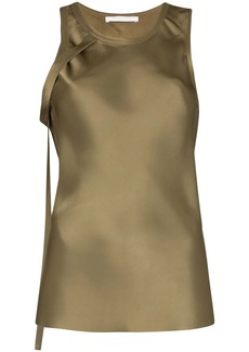 Helmut Lang strap detail blouse