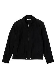 Helmut Lang Strapped Zip Front Crepe Jacket