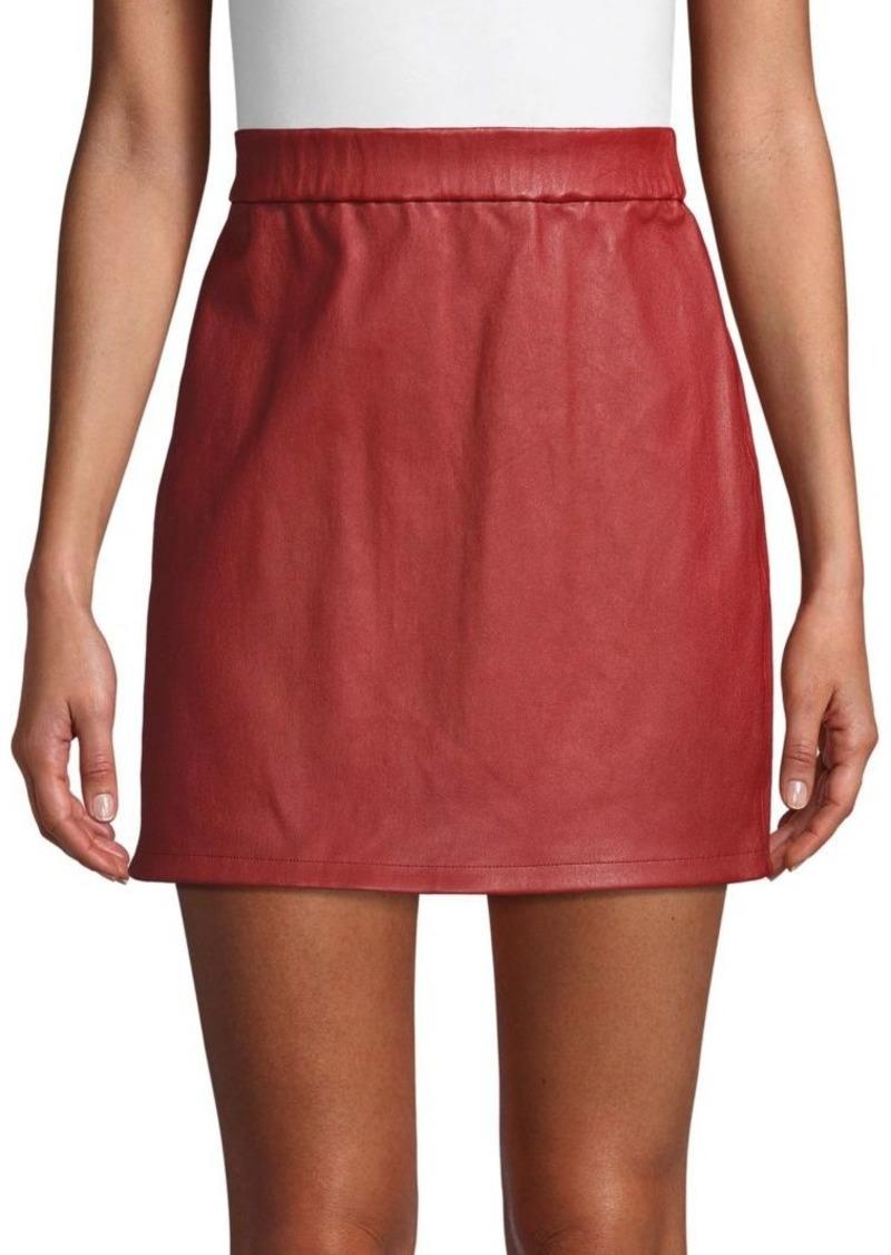 Helmut Lang Stretch Leather Mini Skirt