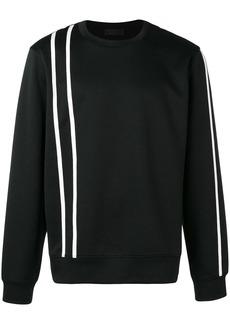 Helmut Lang stripe detail sweatshirt
