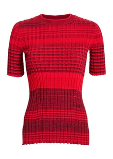 Helmut Lang Stripe Knit Top