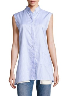 Helmut Lang Striped Apron Back Top
