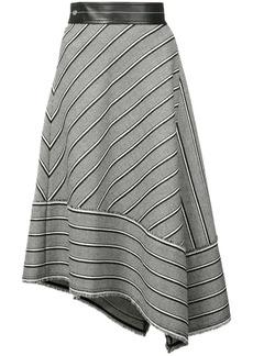 Helmut Lang striped asymmetric skirt