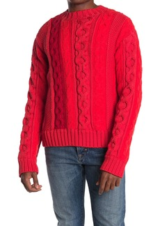 Helmut Lang Striped Cable Knit Sweater