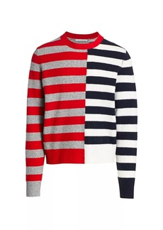 Helmut Lang Striped Crewneck Sweater