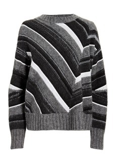 Helmut Lang Striped Grey Sweater